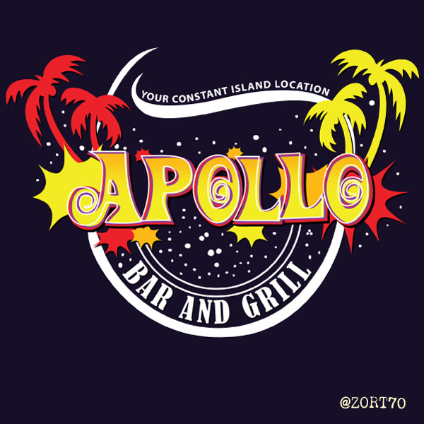 LOST Apollo Bar and Grill t-shirt design