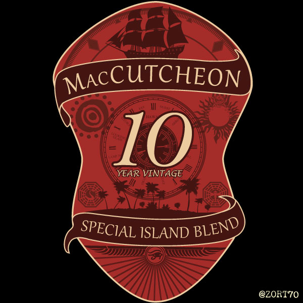 LOST MacCutcheon 10 year anniversary t-shirt design